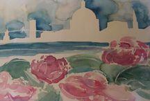 Flowers / Watercolourpainting by me.