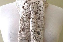 crochet scarfs hats shawls / by Lesa Marie