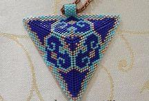 miyuki üçgen kolye