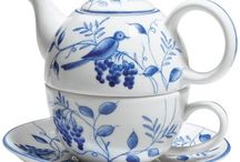 Blue Teapot & Teacup