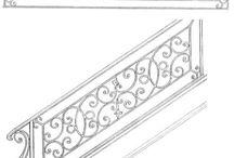 escadas corrimão