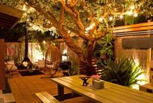 Backyard cafe