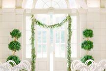 Indoor wedding flower inspiration