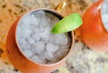 Moscow Mules Made by Tito's Vodka