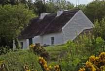 Irish Traditional Cottages / The lovely old cottages of Ireland - you can see many of them as you travel around the island.
