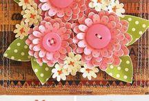 шаблоны цветы из бумаги на открытки