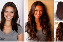 Before and after extension of hair! / They look really different. What hair can make to women)