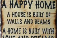Happy Home / Things that contribute to a happy home and family