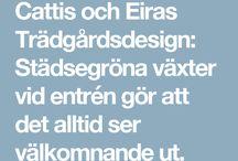 Cattis och eiras trädgårdsdesign