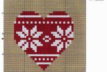 Haft krzyżykowy Boże Narodzenie / haft