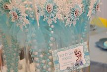 Frozen Birthday Party Inspiration / Great ideas for Frozen-theme birthday parties.  Chelsea & Savannah can take these ideas and push them a step further to completely customize your child's birthday party.