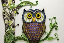 Quilling Owls