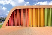 Architecture wood & colour