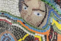 Fused glass mosaic panel