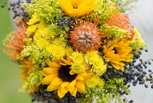 Lisa and Peter / July 2014 - :  Sunflowers, very light, delicate and pretty with some creams, greens, pinks and blues