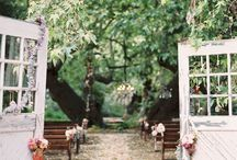 Country Doors Altar Inspiration / Rustic/country doors opening to a wedding!
