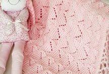 Manta de bebê em tricô