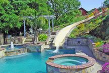 swimming pools with slides