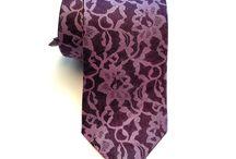 Eleganckie jedwabne krawaty