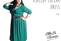 2015 - Scallop Collar Dress / Dress which specially designed for sophisticated curvy women originally made by Indonesian Designer & Local Brand: Ella Es Bonita.