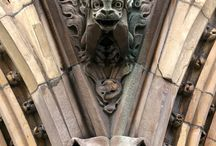stone guardians and gatekeepers / gargoyles, griffons and green men