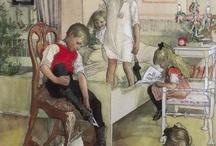 Carl  Larsson e le gioie familiari (in Danimarca)