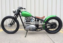 Mean Green / Triumph Bobber built by Staud Cycles.