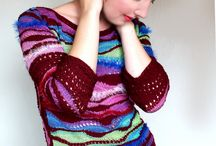 My khitted world. / Knitting: sweaters, pullovers, jackets, hats, scarfs and other