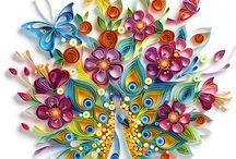 Quilling, painting, drawing, etc
