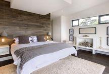 Chambre à coucher / Chambre moderne contemporaine