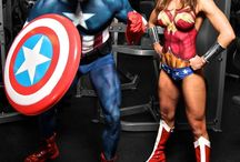Superhero bodypaints