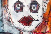 Collection Graphick / Mon travail est 2 comme moi J'ai deux entrées, ce qui est à l'intérieur accroché à ma colonne vertébrale …. ce que je gobe de l'extérieur… Tout sort ou ressort soit dans mes natures soit dans mes révolutions, mes colères ne soyez pas surpris de mes 2 univers …ils me permette de rester en équilibre… graphick=révolution   nature=mélancolies Pour la série graphick je travaille sur des anciennes affiches de récupérations.