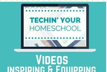 HOMESCHOOLING / Contains info on bringing technology into your homeschooling classroom. Tips on organization, set up, time management, etc
