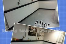 Before and After / Before and After photos of basement waterproofing
