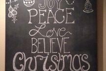 Christmas chalk board