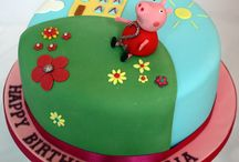Peppa Pig Cake / by Fancy Fondant Cakes by Emily Lindley