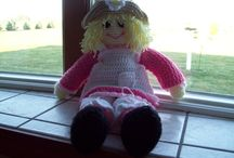 MY CROCHET  / THIS IS POLLY A DOLL I MADE USING A PATTERN I PURCHASED FROM ANNIES!!