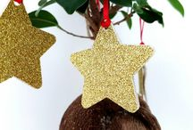 Christmas decorations / Christmas decorations ideas. Cake toppers, confetti, cupcake toppers, Christmas tree decorations...