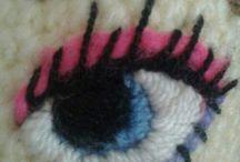 ochi păpușă