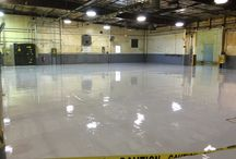 Epoxy Floors / Epoxy floors are a great choice for your manufacturing facility, production warehouse, barn, kennels or vet clinics, bathrooms, locker rooms, and even for pool decks.