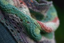 шарфы, шаль, бактус - спицами