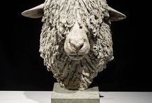 Sheep - sculpture / Bronze or silver wildlife sculptures by Hamish Mackie, signed, dated and numbered limited editions