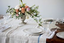 Table Dressing with flowers