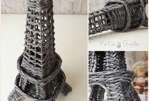pletení z papíru — návody