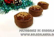 polvorones de chocolate / Haz tus propios polvorones de chocolate en casa. Receta navideña fácil , paso a paso.  http://www.golosolandia.com/2014/12/polvorones-de-chocolate.html