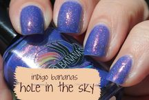 My Nails in Indigo Bananas