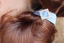 Bling Hair Ties / Knottie Hair Ties - Pony Tail Holder - No Tug Elastic Hair Ties - Rhinestone Hair Ties - Hair Tie Bracelet https://www.etsy.com/shop/MotherDaughterJewel?section_id=14162945