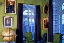 Analogous Color Scheme : Blue-Green Interiors /  Interiors using the analogous color scheme of blues and greens.