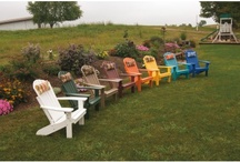 Polywood Adirondack Chairs / Outdoor polywood Adirondack chairs - perfect for the deck, patio, lawn, garden, and more.  Many styles and color options to choose from.  Made in the USA and available at Furniture Barn USA.  http://furniturebarnusa.com/87-outdoor-polywood-adirondack-chairs-furniture