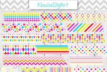Digital Washi Tape / Here are my Washi Tape designs.